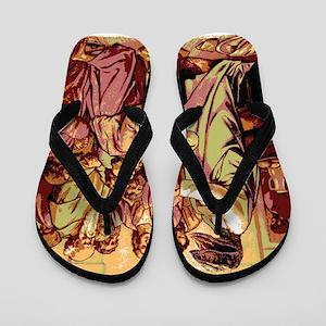 Jesus Raptor Flip Flops