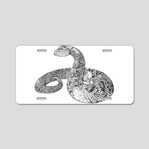 Rattlesnake Aluminum License Plate