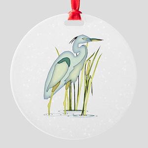 Heron Round Ornament