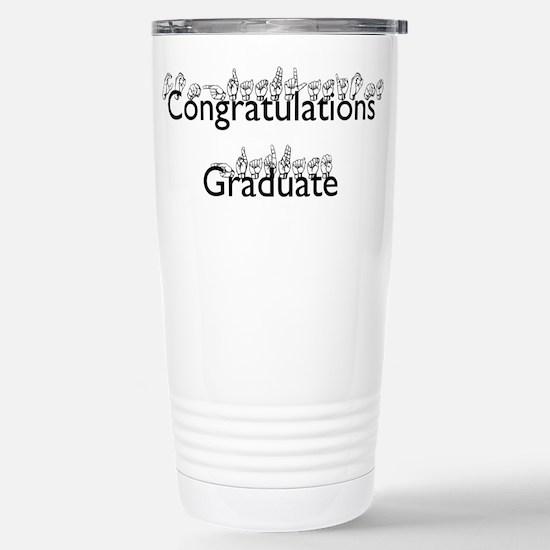 Congratulations Graduate Stainless Steel Travel Mu