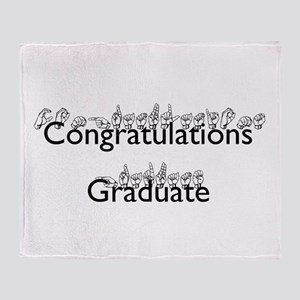 Congratulations Graduate Throw Blanket