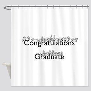 Congratulations Graduate Shower Curtain