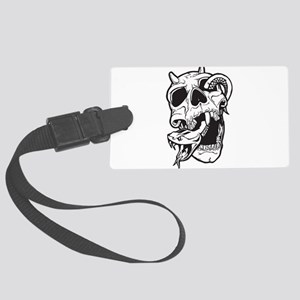 Skull and Snake Large Luggage Tag
