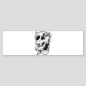 Skull and Snake Sticker (Bumper)