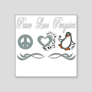 """Peace love poker copy Square Sticker 3"""" x 3"""""""