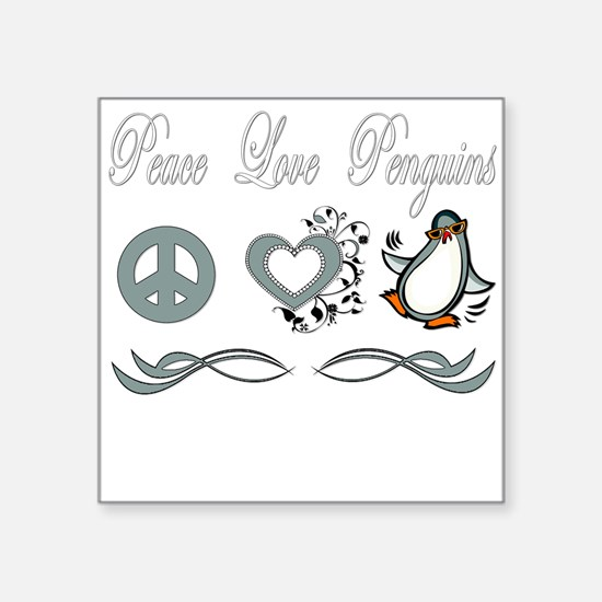 "Peace love poker copy.png Square Sticker 3"" x 3"""