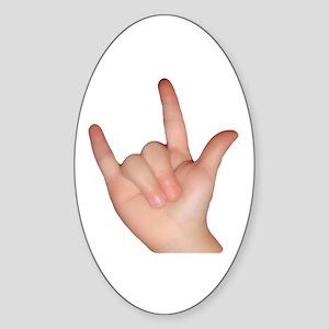 I Love You! Sticker (Oval)
