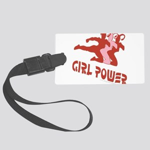 FunnyNewgirlpowerlarge copy Large Luggage Tag