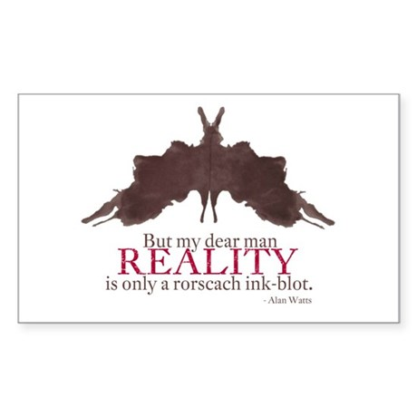 Alan Watts, Reality is a Rorscach Ink-Blot Sticker