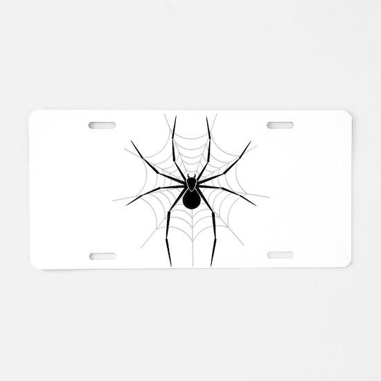 Spider Web Aluminum License Plate