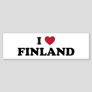 I Love Finland Sticker (Bumper)