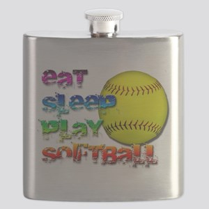 Eat sleep soft 2 png Flask