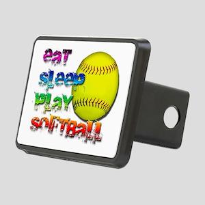 Eat sleep soft 2 png Rectangular Hitch Cover