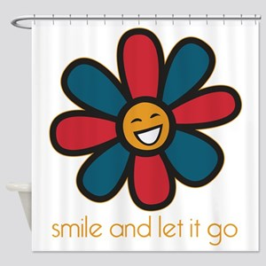 Smile and Let It Go Shower Curtain
