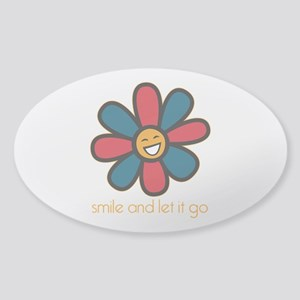 Smile and Let It Go Sticker (Oval)