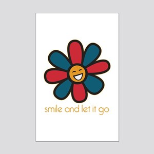 Smile and Let It Go Mini Poster Print