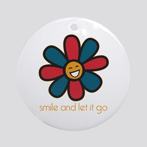 Smile and Let It Go Ornament (Round)