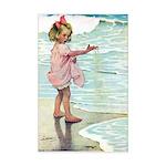 Child at the beach Mini Poster Print