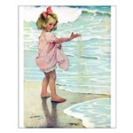 Child at the beach Small Poster