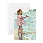 Child at the beach Greeting Cards (Pk of 20)