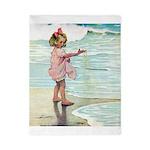 Child at the beach Twin Duvet