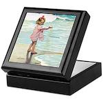 Child at the beach Keepsake Box