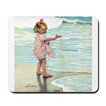 Child at the beach Mousepad