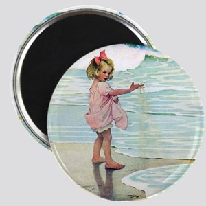 Child at the beach Magnet
