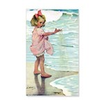 Child at the beach 35x21 Wall Decal