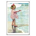 Child at the beach Banner
