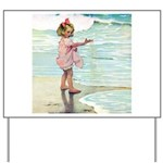 Child at the beach Yard Sign