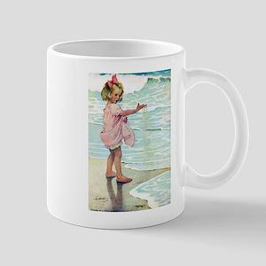 Child at the beach Mug