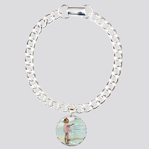 Child at the beach Charm Bracelet, One Charm