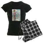 Child at the beach Women's Dark Pajamas