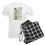 Child at the beach Men's Light Pajamas