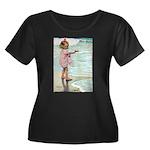 Child at the beach Women's Plus Size Scoop Neck Da