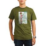 Child at the beach Organic Men's T-Shirt (dark)