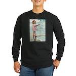 Child at the beach Long Sleeve Dark T-Shirt