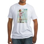 Child at the beach Fitted T-Shirt