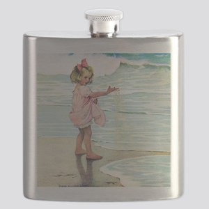 Child at the beach Flask