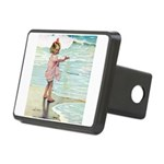 Child at the beach Rectangular Hitch Cover