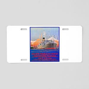 Mediterranean Travel Poster 2 Aluminum License Pla