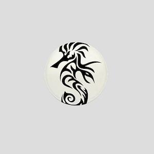 Tribal Seahorse Mini Button