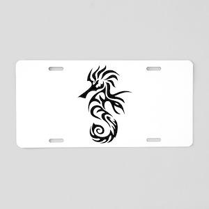 Tribal Seahorse Aluminum License Plate
