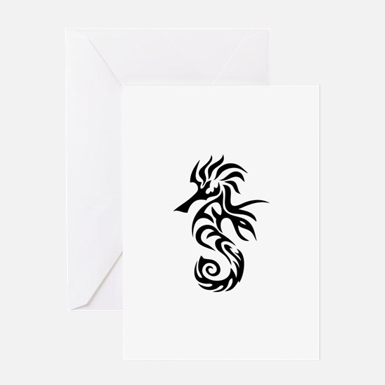 Tribal Seahorse Greeting Card