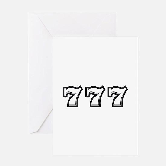 Triple 7s Greeting Card