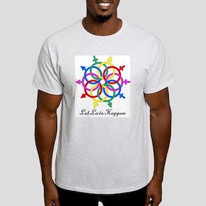 Let Love Happen Ash Grey T-Shirt