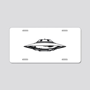 UFO Aluminum License Plate