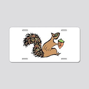 Squirrely with Acorn Aluminum License Plate