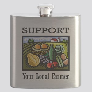 Support Your Local Farmer Flask